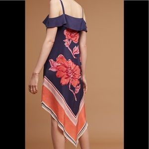 Moulinette Soeurs 100% Silk A-Line Scarf Hem Dress